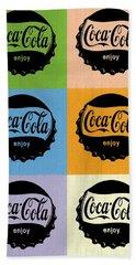 Coca Cola Bottle Cap Pop Art Hand Towel