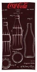 Coca Cola Bottle Design Hand Towel
