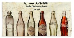 Coca-cola Bottle Evolution Vintage Sign Hand Towel