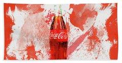 Coca Cola Bottle Splatter Hand Towel