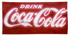 Coca Cola Hand Towel by Heidi Smith