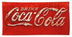 Coca Cola Rustic Bath Towel