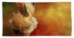 Cochin Chicken Hand Towel by Eva Lechner