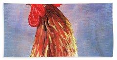 Cock-a-doodle-doo Bath Towel