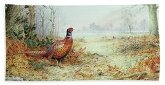 Cock Pheasant  Hand Towel by Carl Donner
