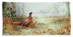 Cock Pheasant  Hand Towel