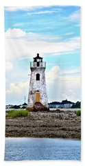 Cockspur Lighthouse Vertical Bath Towel