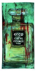 Bath Towel featuring the painting Coco Potion by P J Lewis
