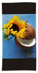 Bath Towel featuring the photograph Coconut And Sunflower Harmony by Jasna Gopic