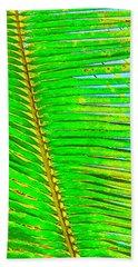 Coconut Palm Leaf Aloha Hand Towel