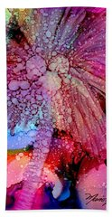 Hand Towel featuring the painting Coconut Palm Tree 4 by Marionette Taboniar