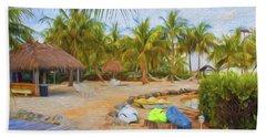 Coconut Palms Inn Beach Hand Towel