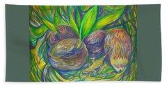 Coconuts Bath Towel by Anna  Duyunova