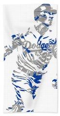 Cody Bellinger Los Angeles Dodgers Pixel Art 1 Hand Towel
