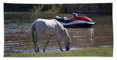 Coexistence Salt River Wild Horses Tonto National Forest Number Two Jet Ski Bath Towel