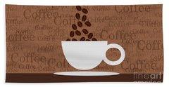 Coffee #3 Bath Towel