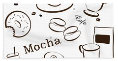 Coffee And Cafe Background Hand Towel