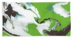 Coffee Bean 1- Abstract Art By Linda Woods Hand Towel