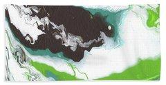 Coffee Bean 2- Abstract Art By Linda Woods Hand Towel