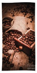 Coffee Bean Art Hand Towel