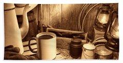 Coffee Break At The Chuck Wagon Bath Towel
