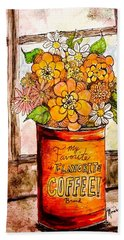 Coffee Can Bouquet  Hand Towel