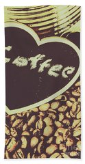 Coffee Heart Bath Towel