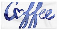 Coffee Love Typography Hand Towel