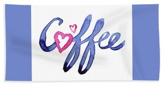 Coffee Lover Typography Hand Towel