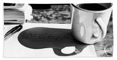Coffee Poetry Hand Towel