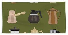 Coffee Pots Hand Towel
