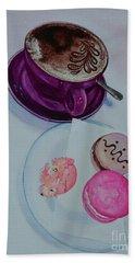 Coffee Hand Towel by Sandra Phryce-Jones