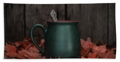 Coffee, Tea And Autumn Bath Towel