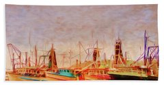 Bath Towel featuring the photograph Coffs Harbour Fishing Trawlers by Wallaroo Images