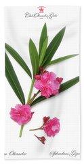 Cog  Nerium Oleander Splendens Giganteum Bath Towel