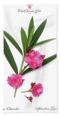 Hand Towel featuring the photograph Cog  Nerium Oleander Splendens Giganteum by Wilhelm Hufnagl