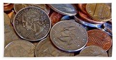 Coins In A Heap Bath Towel