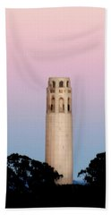 Coit Tower At Sunset Bath Towel