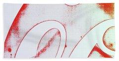 Coke 2 Hand Towel by Laurie Stewart