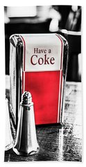 Bath Towel featuring the photograph Coke Napkins by Karol Livote