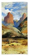 Colburns Butte South Utah Hand Towel by Thomas Moran