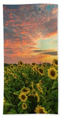 Colby Farm Sunflowers Bath Towel