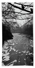 Bath Towel featuring the photograph Cold by Inge Riis McDonald