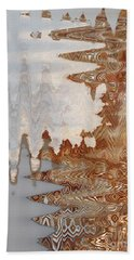 Hand Towel featuring the digital art Cold Like Ice by Ann Johndro-Collins