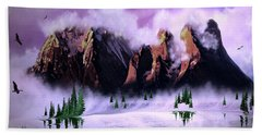 Cold Mountain Morning Hand Towel
