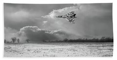 Bath Towel featuring the photograph Cold War Warrior Bw Version by Gary Eason
