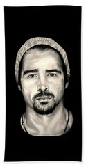 Colin Farrell  Total Recall Hand Towel by Fred Larucci