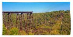 Collapsed Kinzua Railroad Bridge Hand Towel