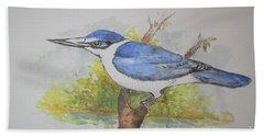 Collared Kingfisher Bath Towel