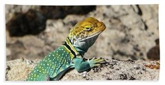 Collared Lizard Bath Towel